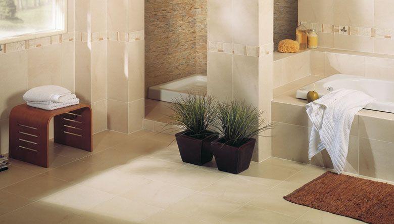 azulejos para el cuarto de bao donde el diseo del ambiente cermico en tonos ocre