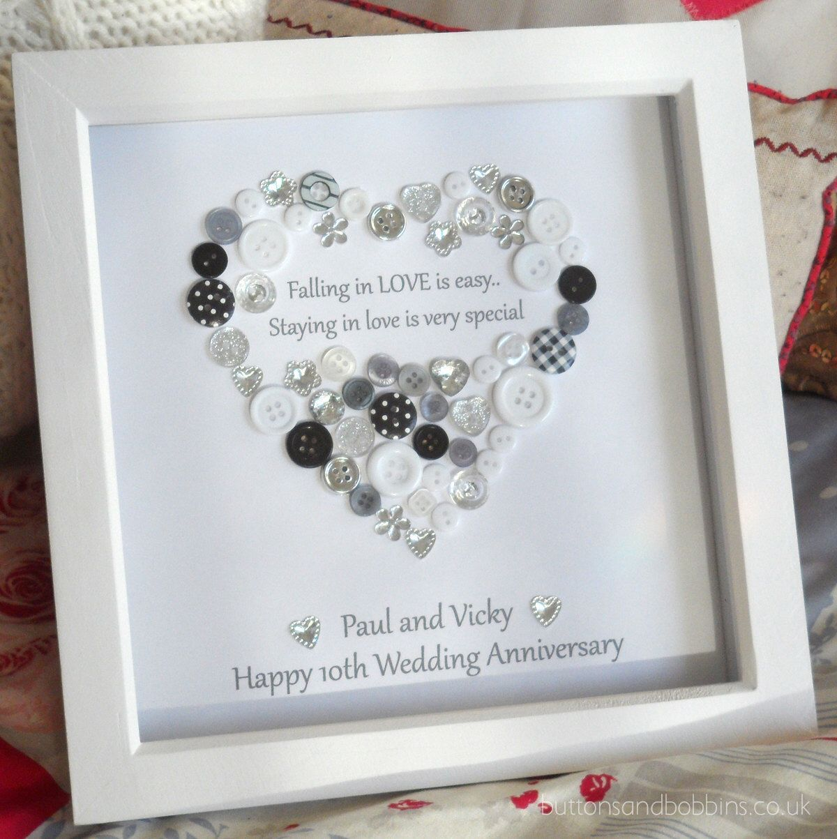 The 25 Best Anniversary Frames Ideas On Pinterest Diy Picture Gifts Button Crafts Diy Wedding Presents