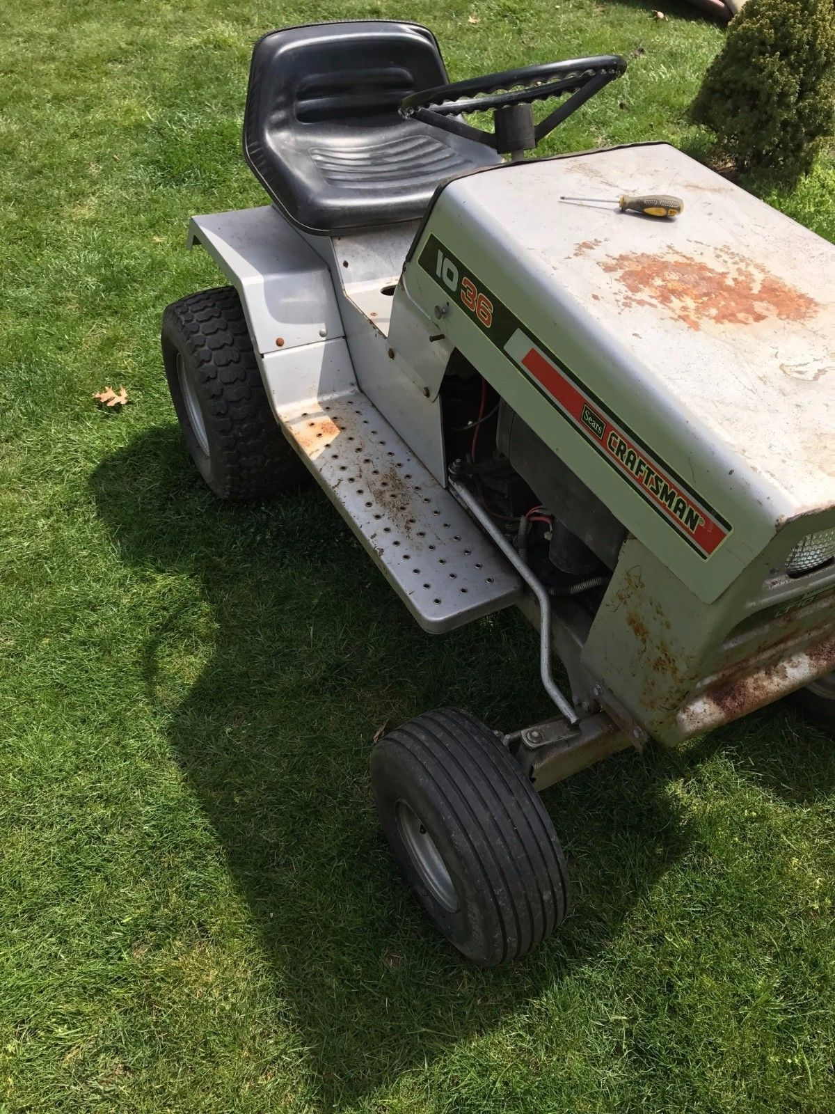 Sears Riding Tractor Mower Craftsman 10 36 Tractor Mower Riding