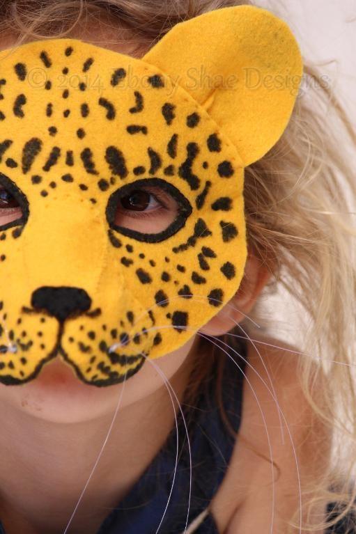 Felt Leopard Mask Sewing Pattern | Masken