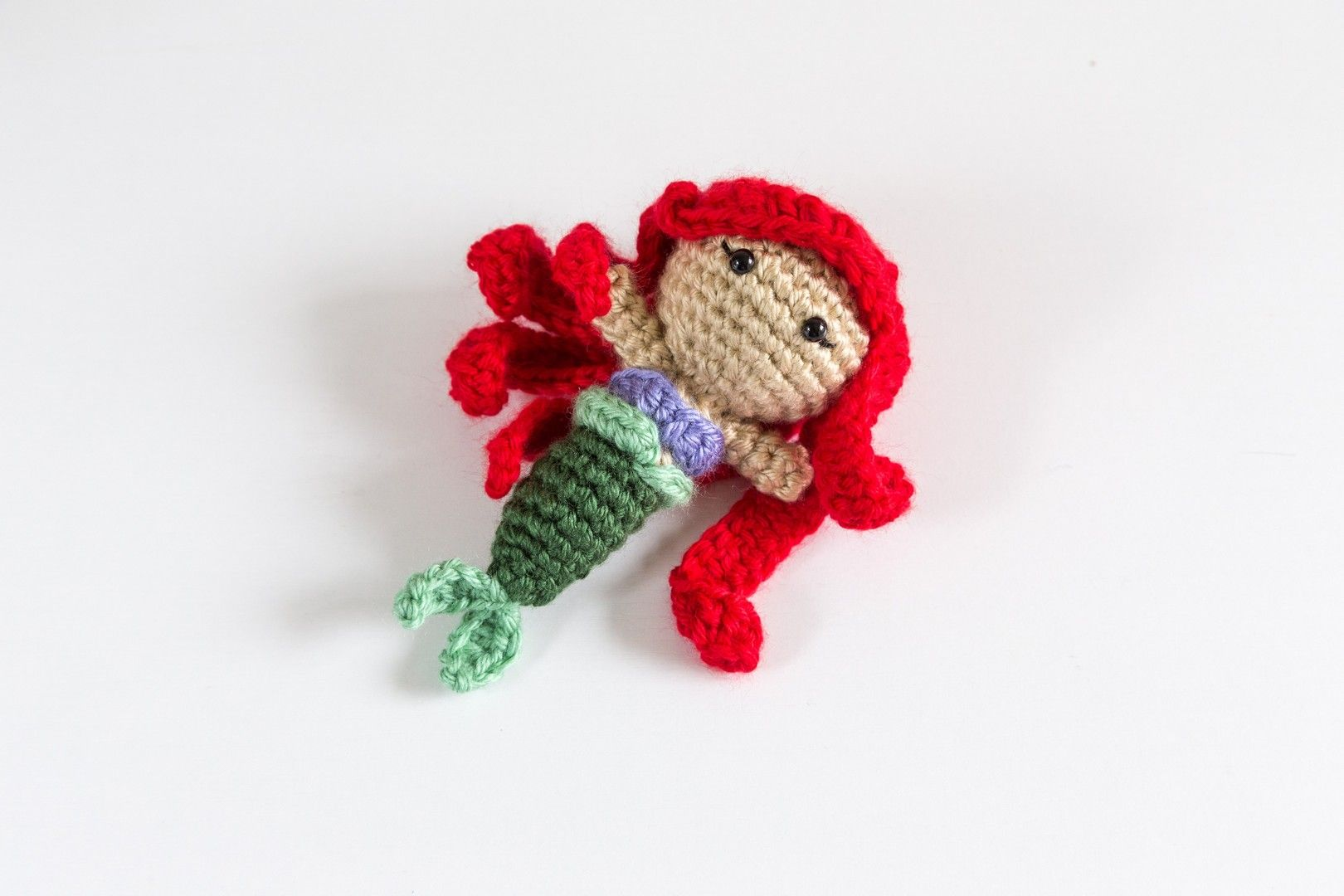 Disney Princess Ariel the Little Mermaid Crochet Amigurumi Doll ...