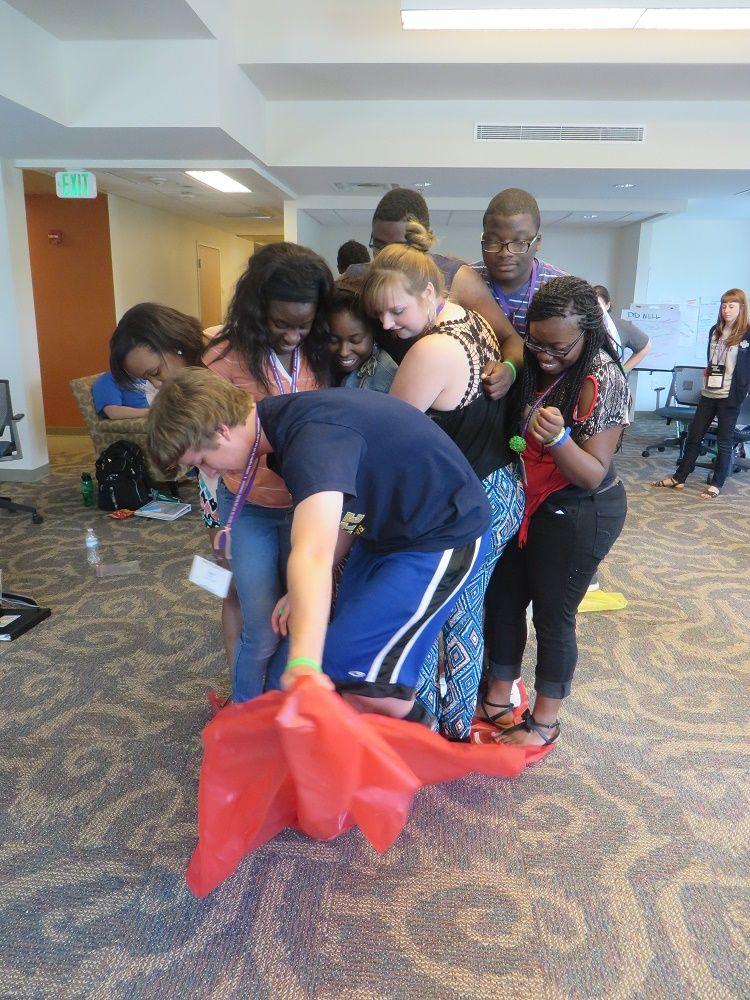Team Building Activity Beach Towel Flip Activity Girl Ideas