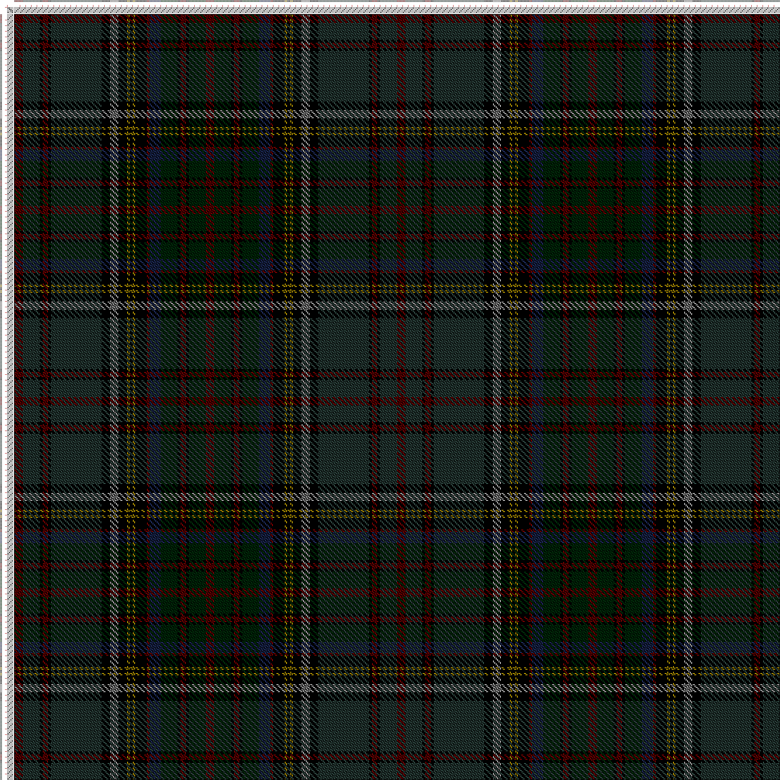 draft image: Anderson P (R6, AZ12, BK2, R4, BK2, AZ36, BK6, W6, BK6, Y2, BK2, Y2, BK8, R2, B8, G12, BK2, R4, BK2, G12, R6), Scottish and Other Tartans Collection, 4S, 4T