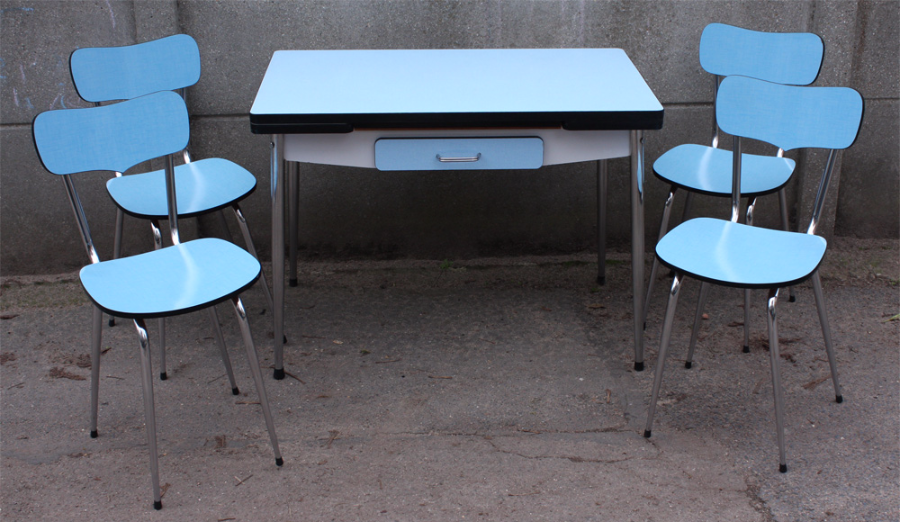Table Formica Bleue Marque Elem Tables Et Chaises Formica Table