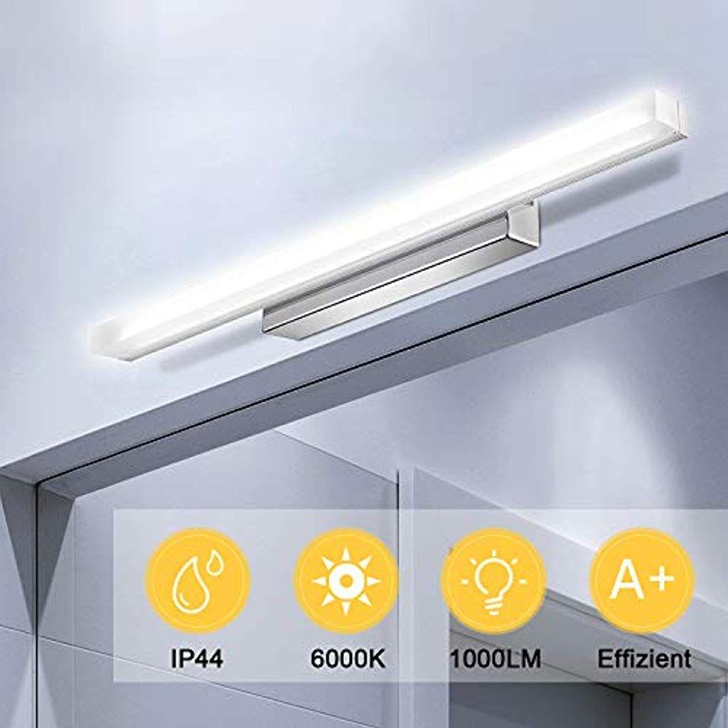 Kohree Led Spiegelleuchte Ip44 Wasserdichte Spiegel Lampe Fur Spiegelschrank Badezimmer 50cm Badleuchte Schminklicht Wandleuch In 2020 Spiegelschrank Beleuchtung Lampe