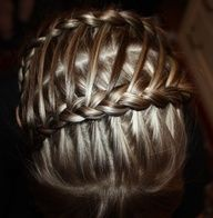 Feather braid into another braid #cute hair nails hairbow how to s