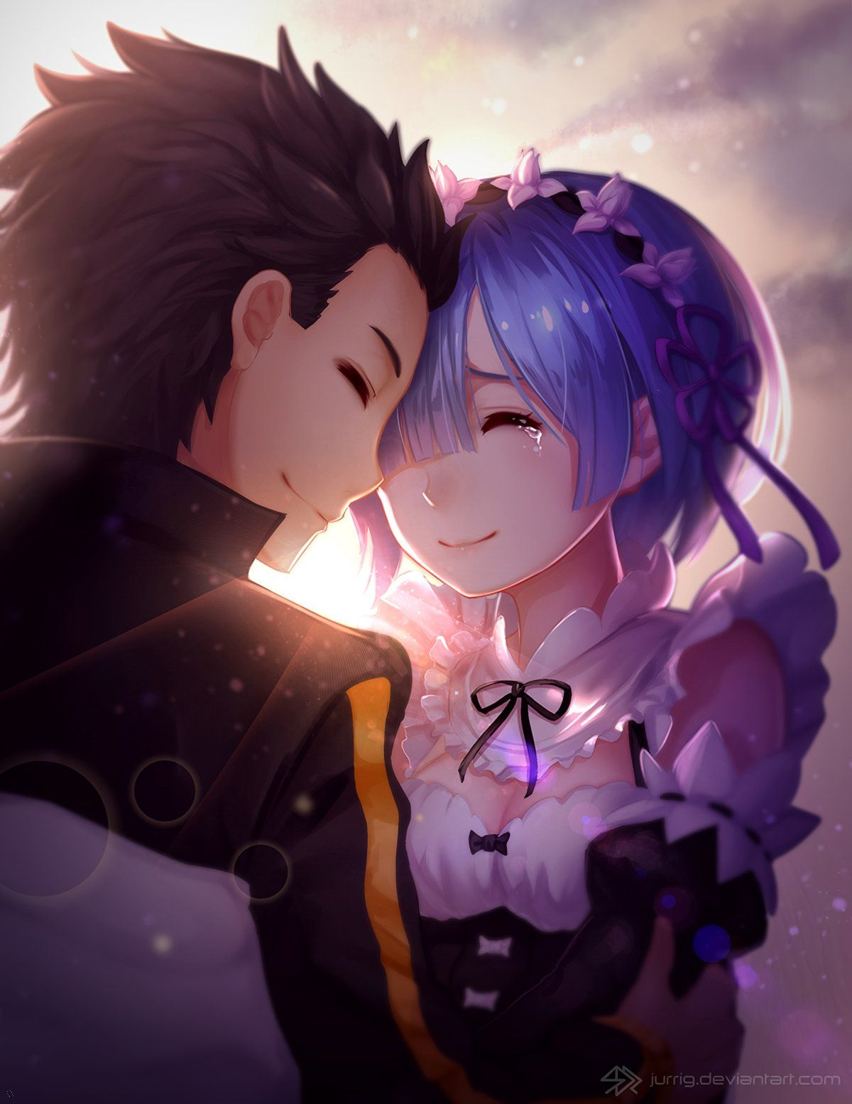 Rem and Subaru, ReZero, by Jurrig in 2020 (With images
