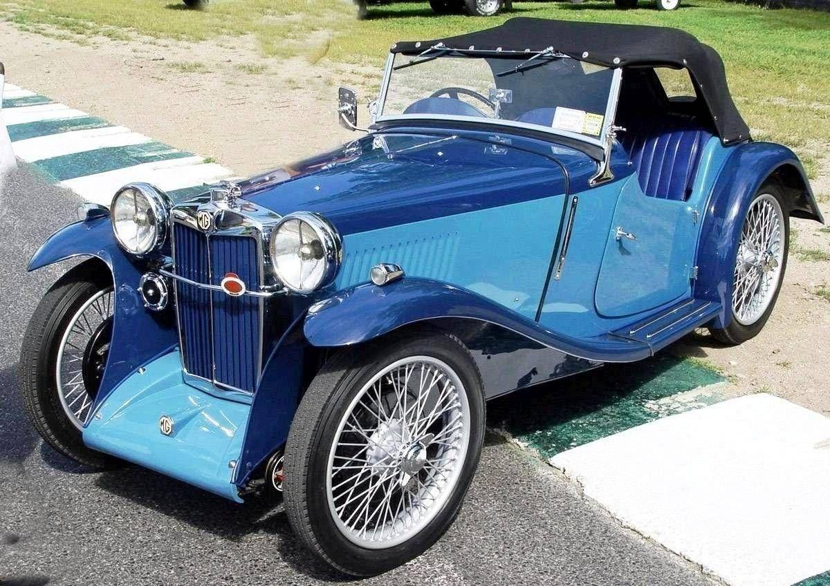 Old Cars Cars Car Photos Car Images Mg Pb Blue Sa Lr