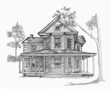 Pencil Drawings Of Old Houses Old House 11 X 14 150 Old Tree