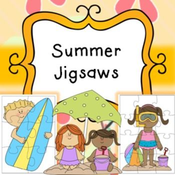 Summer Theme Jigsaw Puzzles ActivitiesPrint, cut, laminate, store and re-use every year for Summer! Great activity to keep pupils busy, early finishers, choice activities etc.6 piece jigsaws (7 different jigsaws)12 piece jigsaws (7 different jigsaws)This product is included in my Giant Summer bundle found here****************************************************************************If you purchase this product I would very much appreciate you coming back to this page at one point to leave…