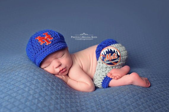 New york mets newborn set uniform cap and pants this is so cute for
