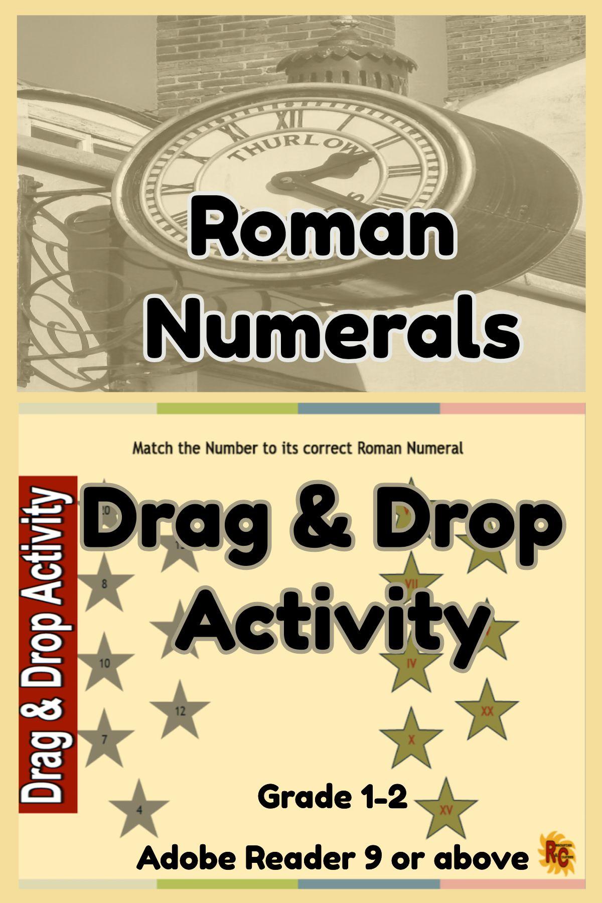 Roman Numerals Interactive Resources Set 1st 3rd Grade
