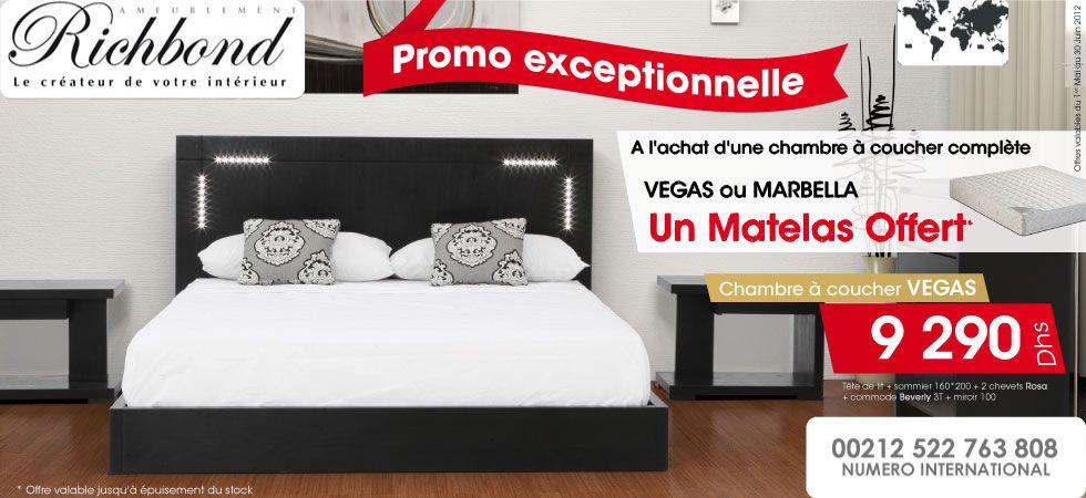 A lachat dune chambre à coucher complète vargas ou marbella un matelas
