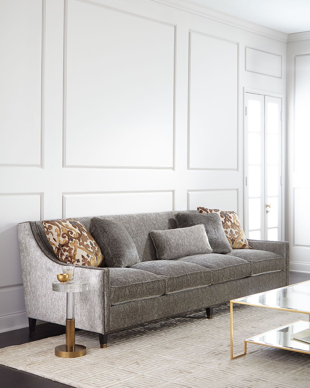 Bernhardt Palisades Extra Long Sofa 108 With Images Long Sofa Couch Design Long Couch