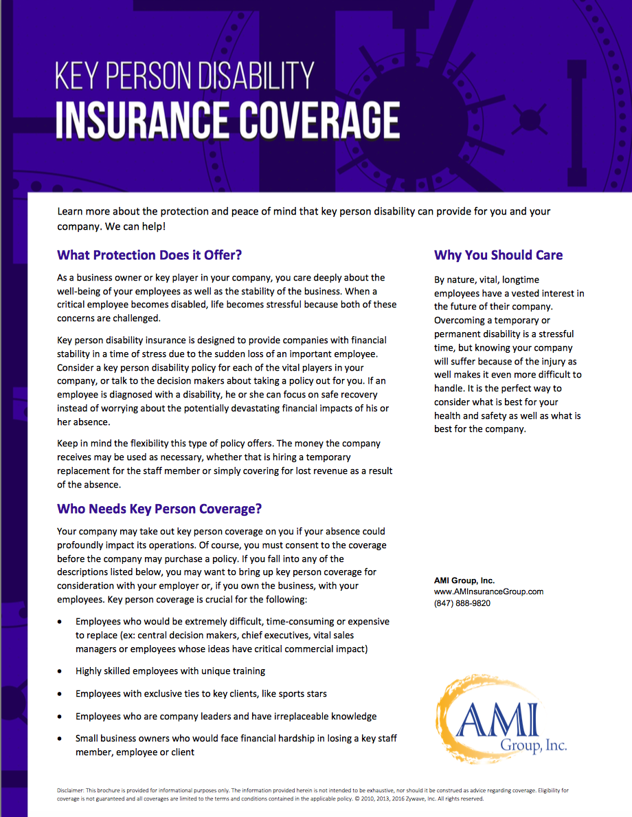 Key Person Disability Insurance Is Designed To Provide Companies