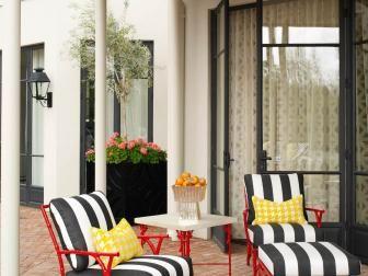 Art Deco Outdoor Living Space