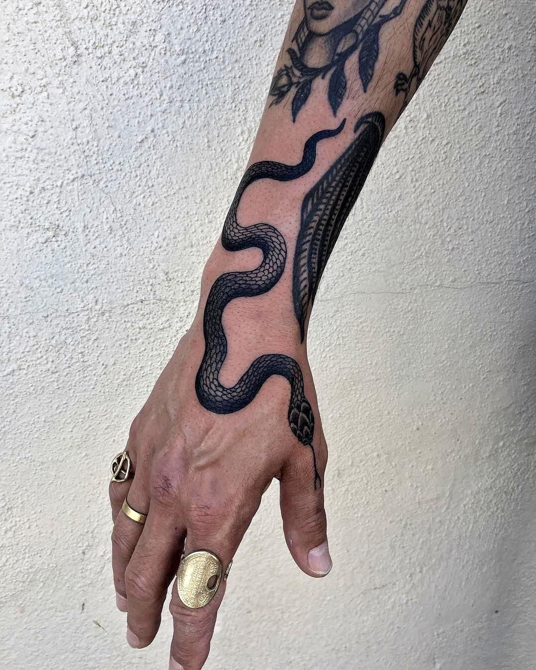 A Simple Hoe. Photo in 2020 Traditional snake tattoo