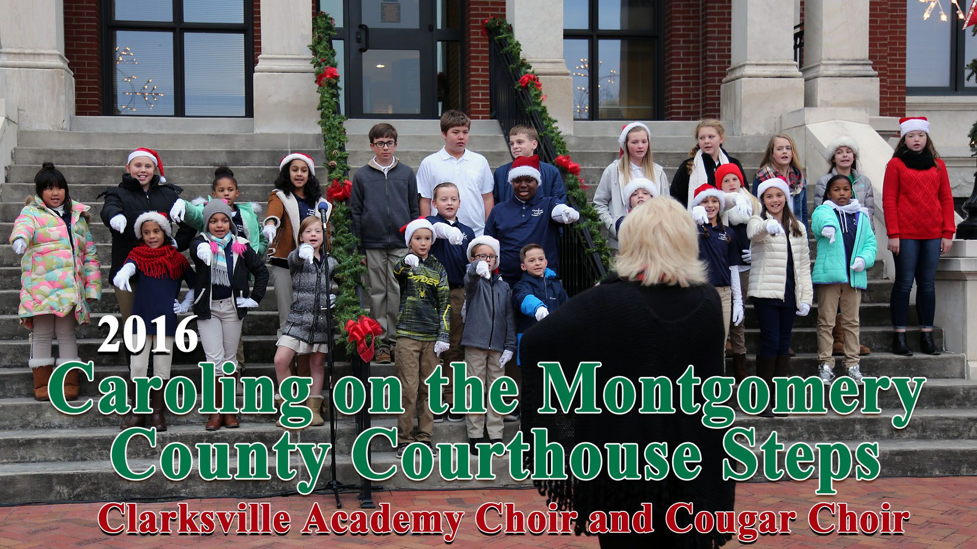 Clarksville Academy Choirs sing Christmas Carols on the