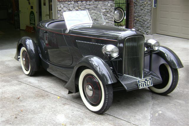 1932 Ford chassis and rely on a new Ford Flathead V-8 engine for power.
