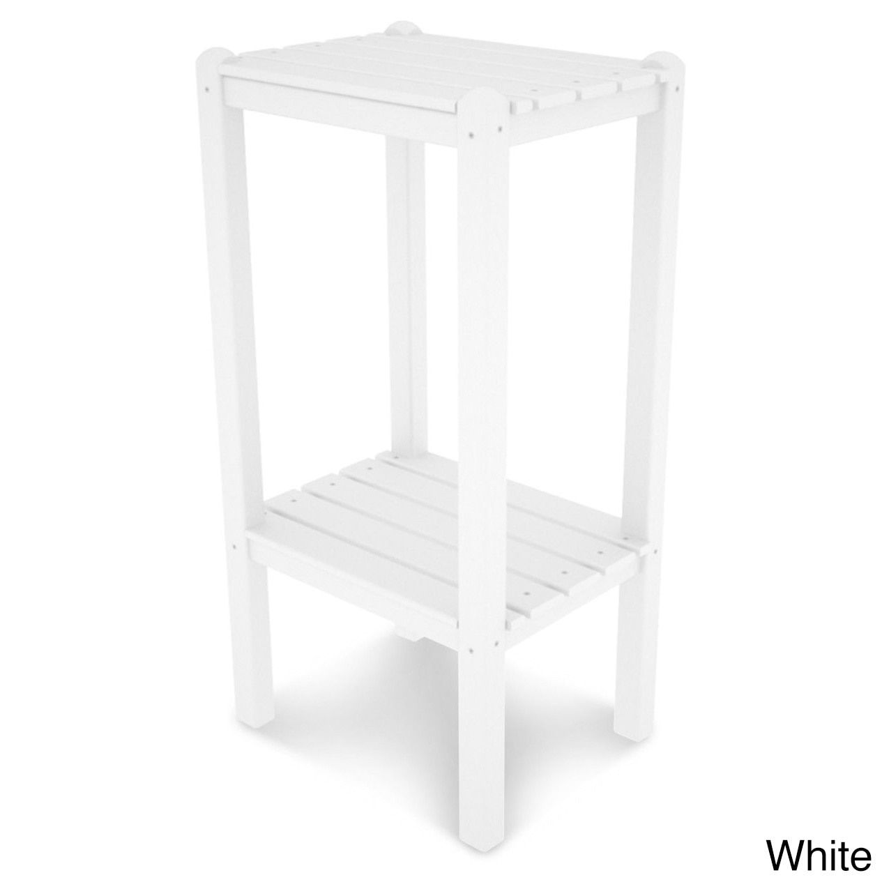 Polywood Two Shelf Bar Side Table, Patio Furniture