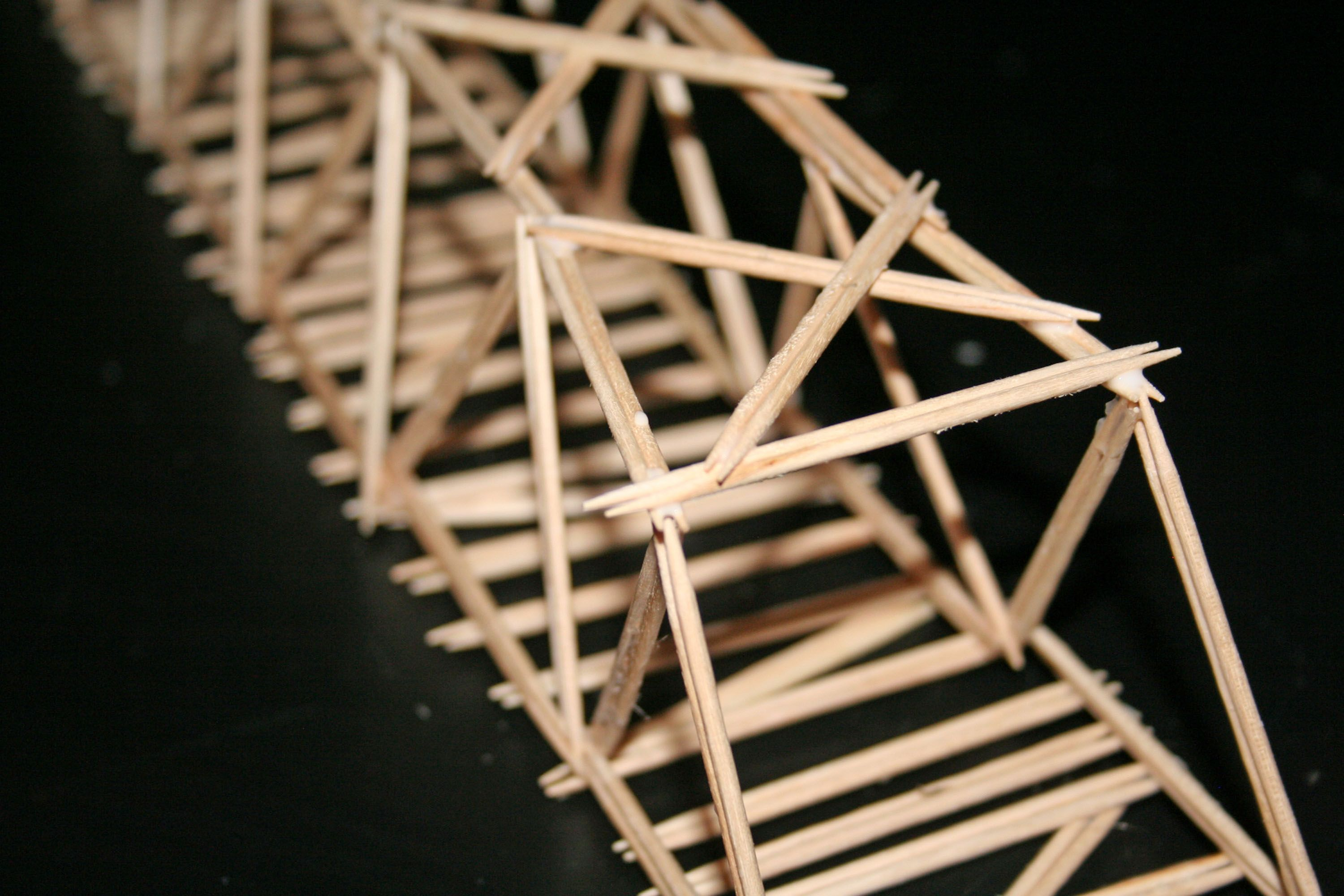 how to build a toothpick bridge that is strong