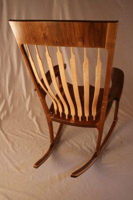 Sam Maloof Style Walnut Amp Tiger Maple Rocking Chair By Kit