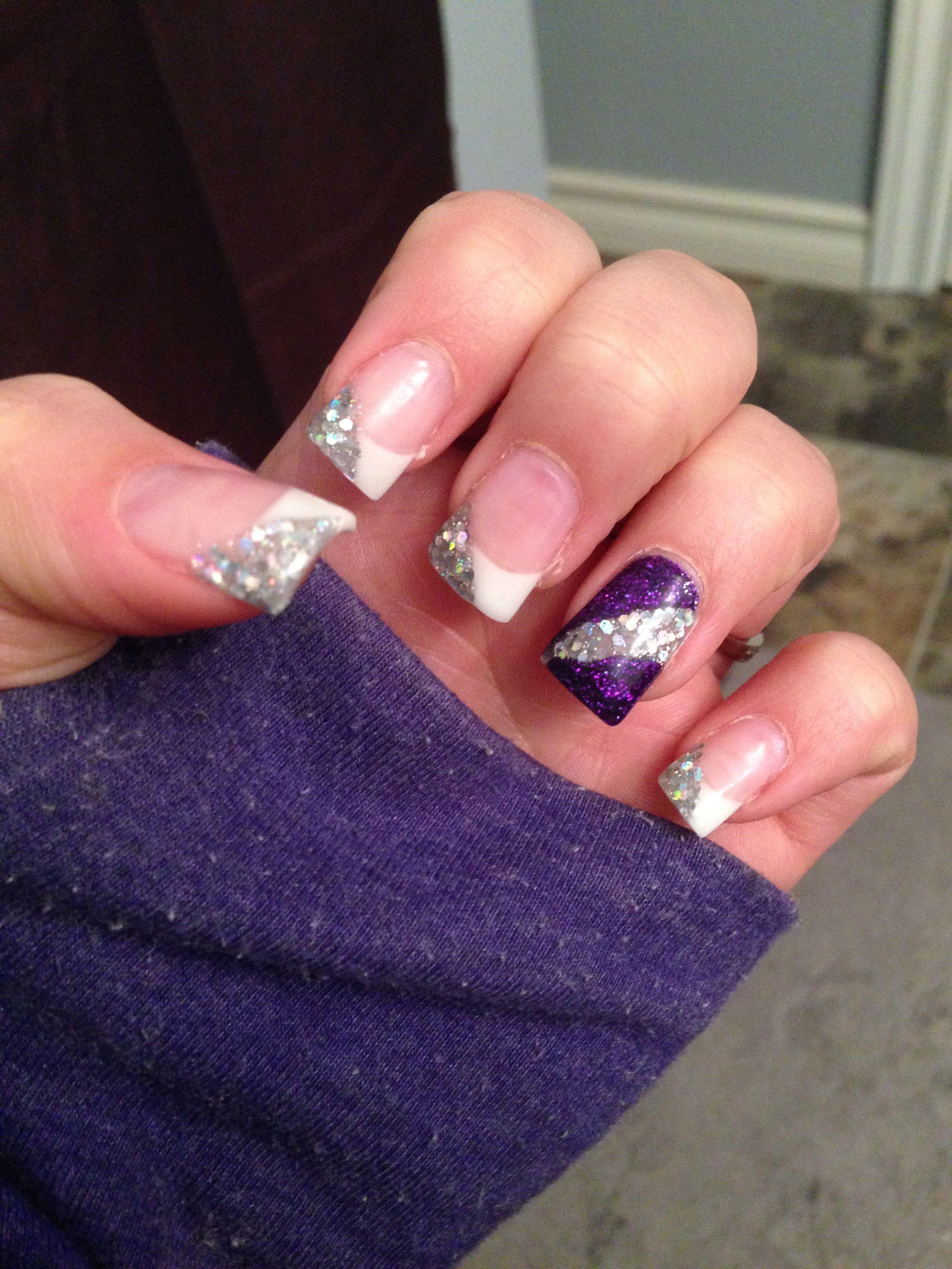 Wedding Nails Punch Of Color Purple Wedding Nails Wedding