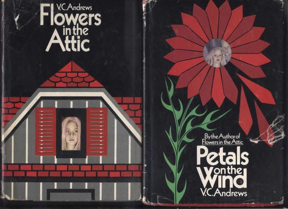 Flowers In The Attic Petals On The Wind V C Andrews Hc Dj First Editions Lot Bc Flowers In The Attic Petal On The Wind Petals