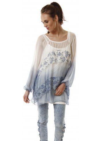 2fbe0058bc2af J L Paris Baby Blue Silk Floral Print Layered Tunic