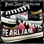 a97577aadce4 Pearl Jam Hand-Painted Converse Sneakers by MAG of www.punkyourchucks.com