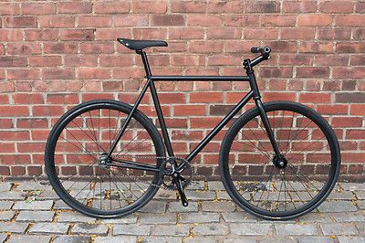 Focale 44 Noble Fixed Gear Complete Bike Black Fixie 55cm flat bar LOOK!!