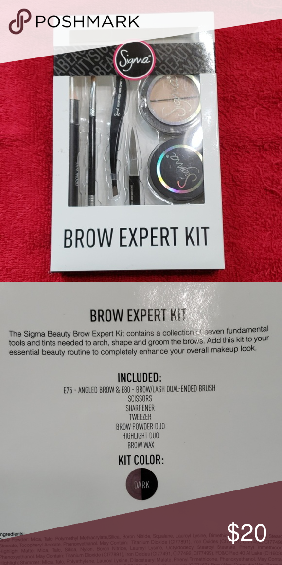 Sigma Brow Expert Kit Brand New Brows Sigma Beauty Eyebrows Filler