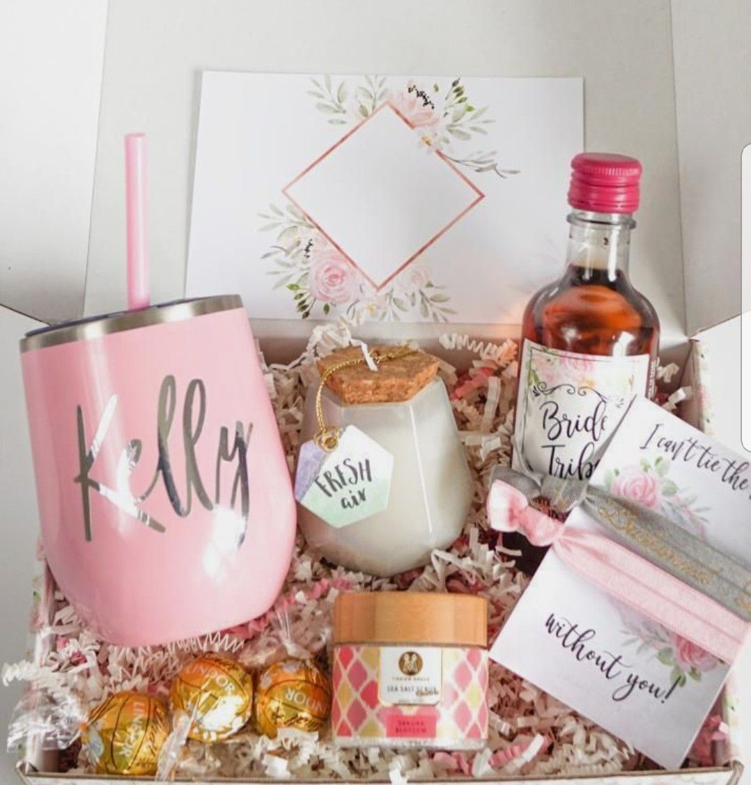 Easter basket ideas gifts for wedding party bridesmaid