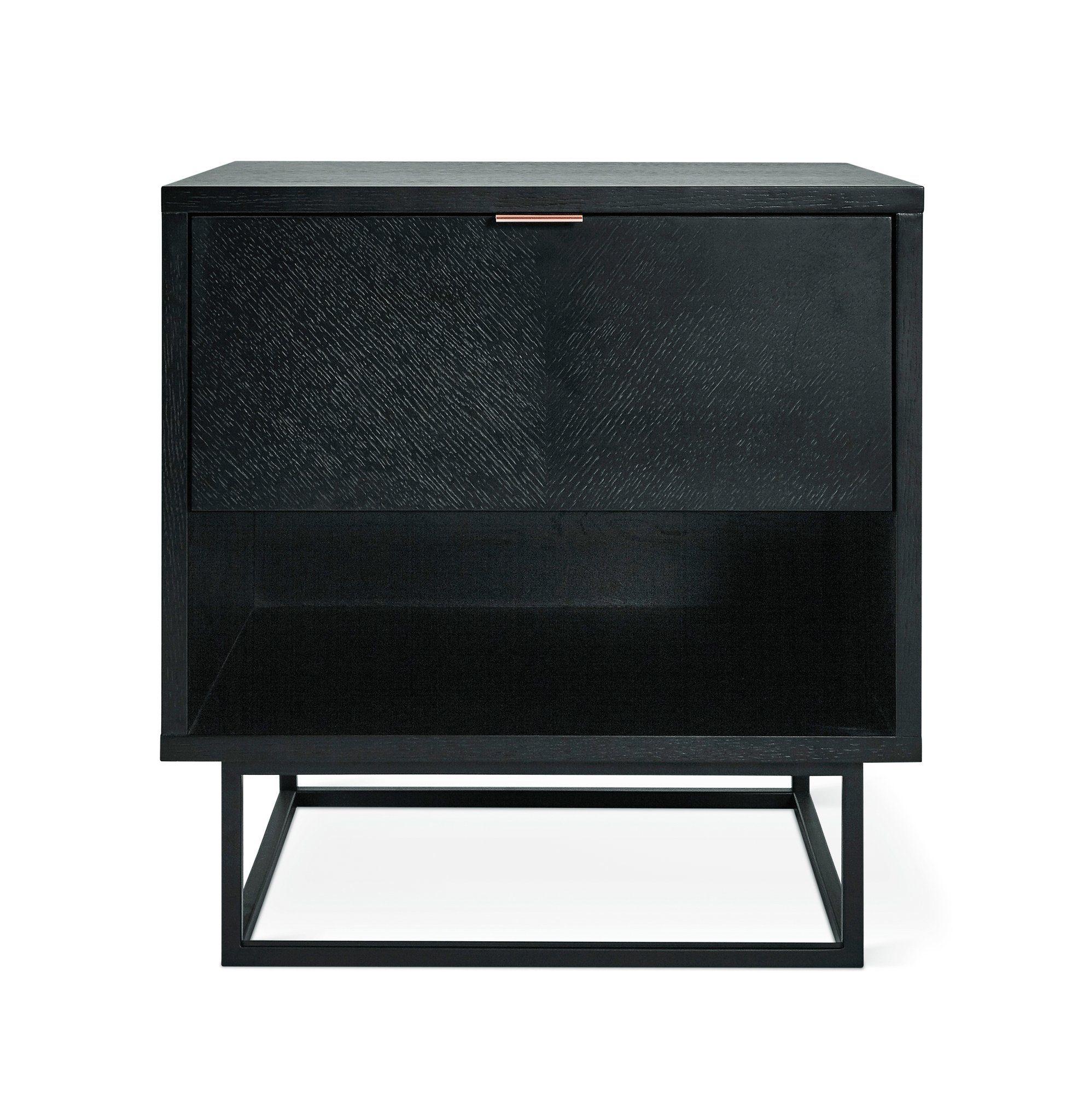 Myles end table in black oak design by gus modern table storage furniture storage