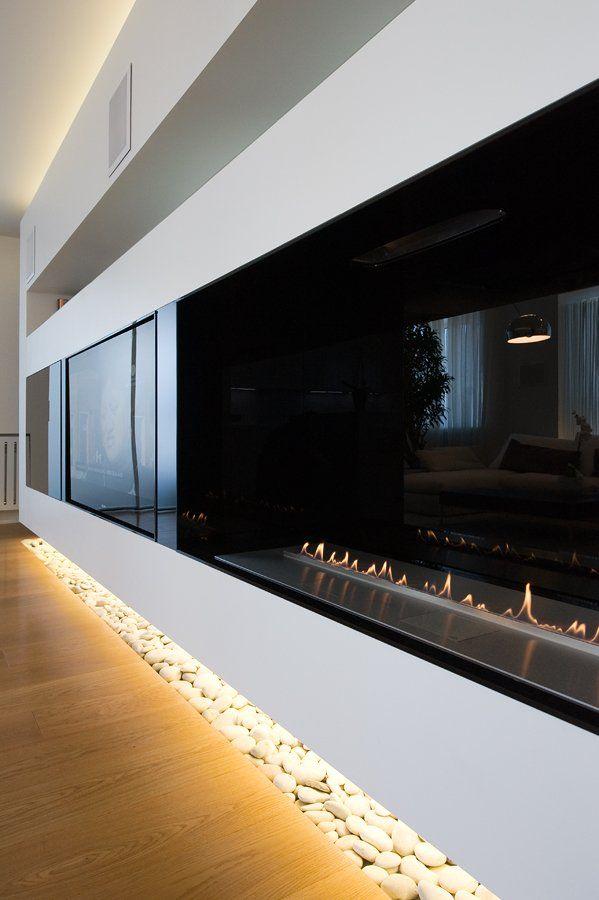 Cool Modern Fireplace Tv Inspiration Design Modern