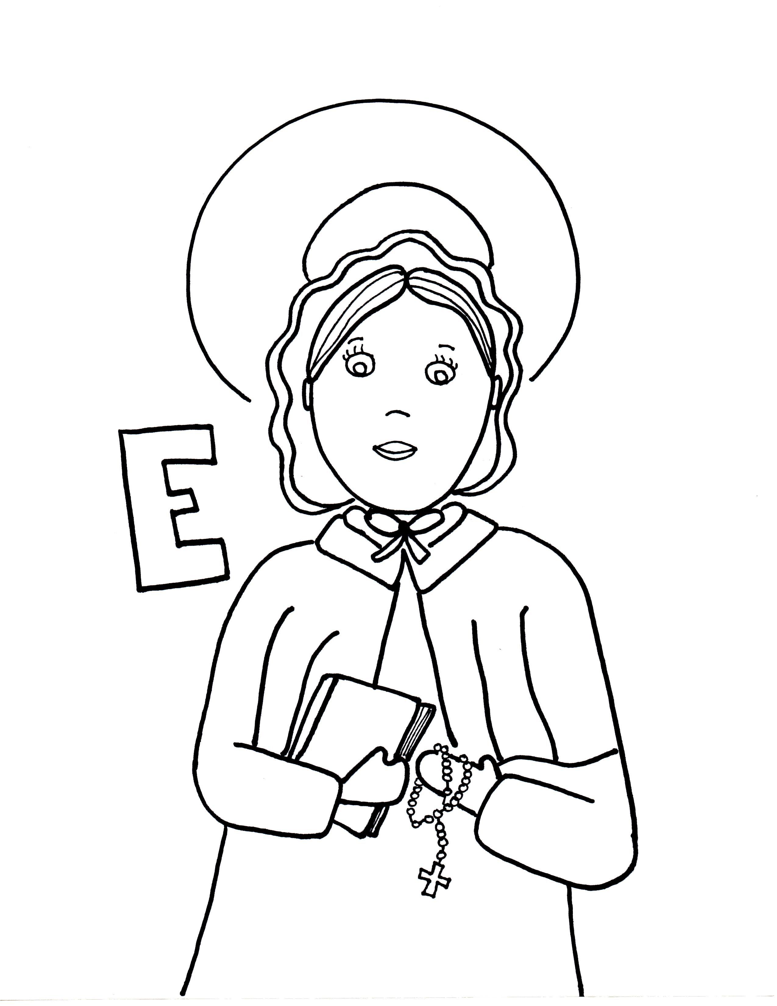 st elizabeth ann seton coloring page