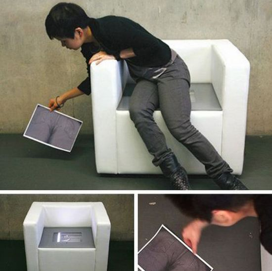 Butt scanner chair.