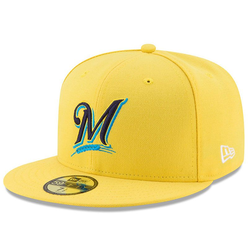 watch b045a f65d4 Milwaukee Brewers New Era 2017 Players Weekend 59FIFTY Fitted Hat - Yellow
