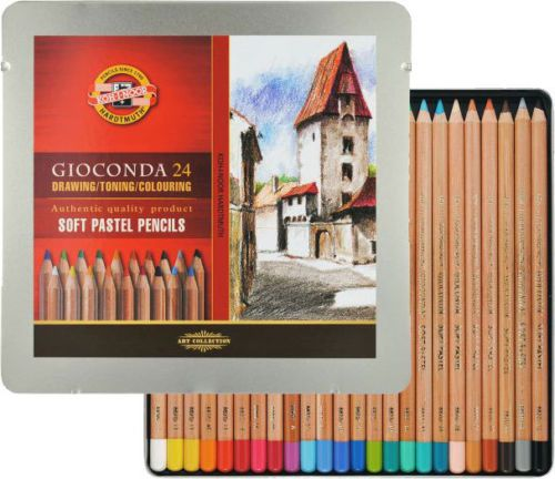 Set of 24 Koh-I-Noor Soft Artist Pastel Pencils Gioconda 8828