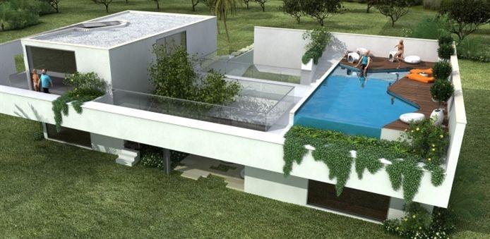 24949d1317324765 vivienda con arquitectura moderna for Arquitectura moderna casas