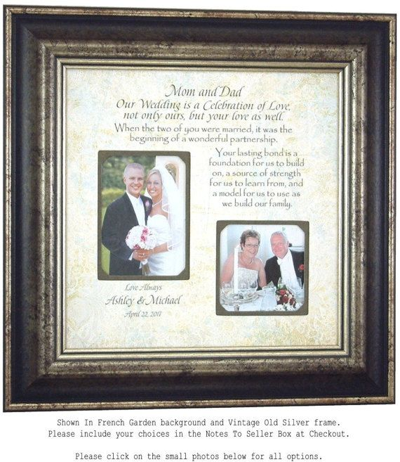 Wedding Gift for Parents, Parents of the Bride, Gift from Groom ...