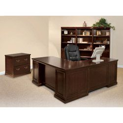 environmentally friendly office furniture. Espresso L-Desk With Left Return Office Set // Environmentally-friendly Furniture Environmentally Friendly