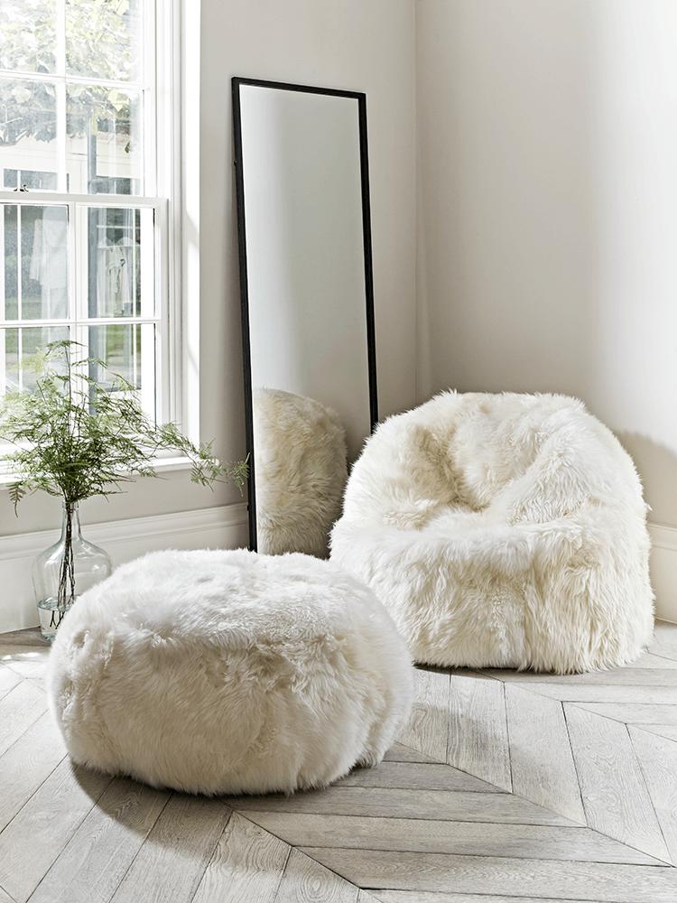 Sumptuous Sheepskin Pouf Ivory White Kids Room Pinterest Delectable Sheepskin Pouf Bean Bag