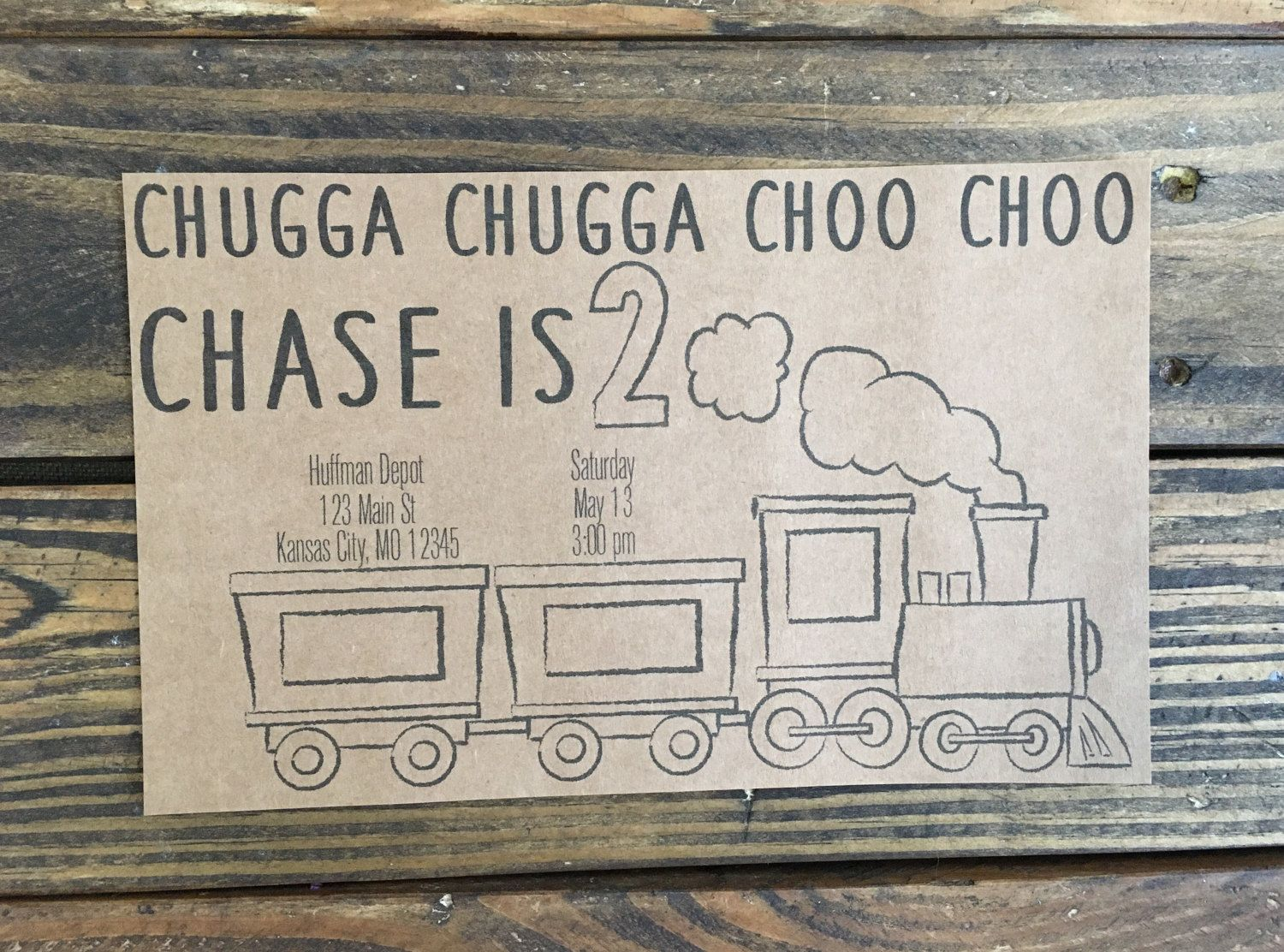 TRAIN THANKS | Thank Choo Card | Thanks for Chugging Over Card ...
