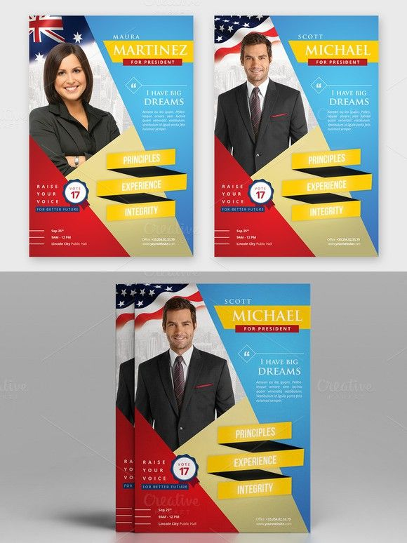Election Campaign Political Flyer Flyer Templates 5 00 Flyer Creative Flyers Flyer Template