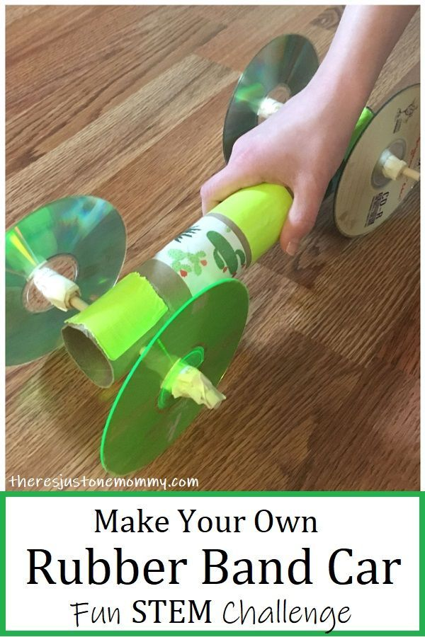 This homemade rubber band car STEM activity is perfect for teaching kids about potential energy. #STEM #STEMeducation #STEMactivities #homeschoolingideas #handsonlearning #kidsactivities #kidscrafts #cardboardtubes
