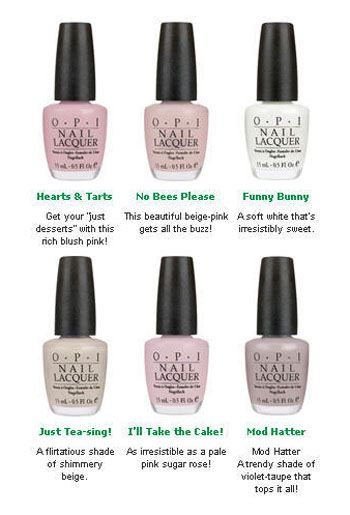 Opi Hearts Tarts Garden Party Collection Nlh20 Nail Care Manicure Polish