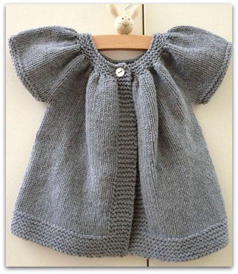 modele gratuit tricot fillette 2 ans | Tricot fillette, Modele tricot gratuit, Modele tricot