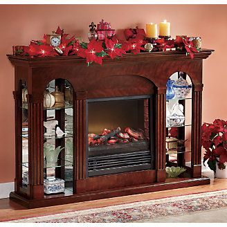 this looks warm and cozy and a perfect place to hang stockings.