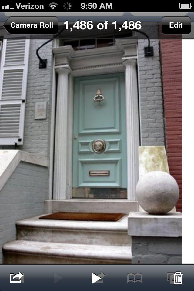 Paint door Wythe Blue Benjamin Moore paint. Add big door ...